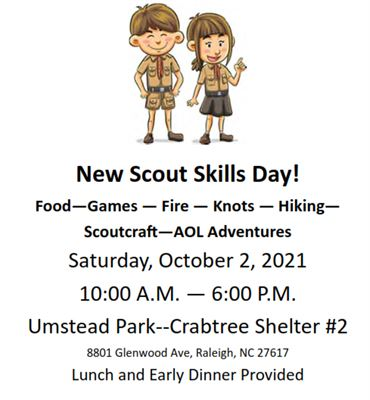 New Scout Skills Day information